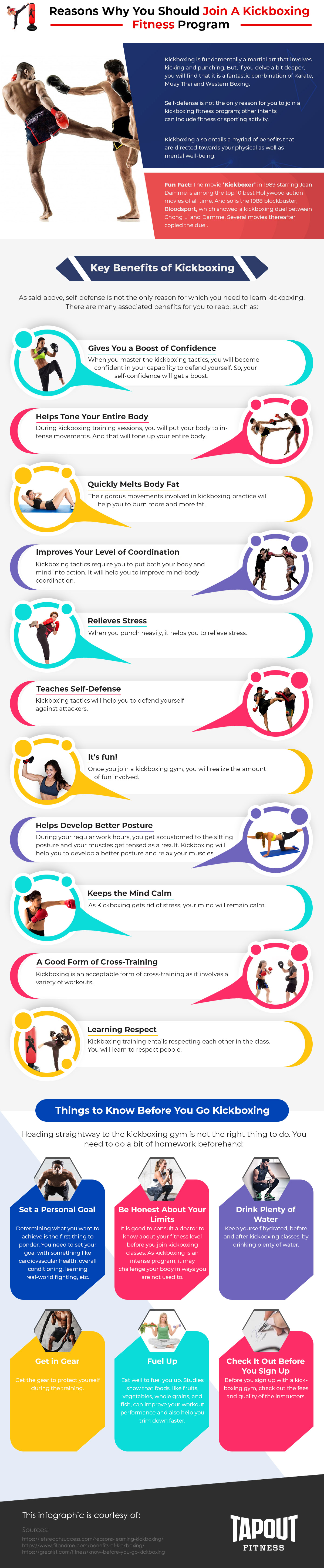 Reasons to Join Kickboxing Fitness Program - Infographic